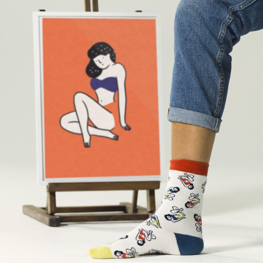 chaussettes illustrées
