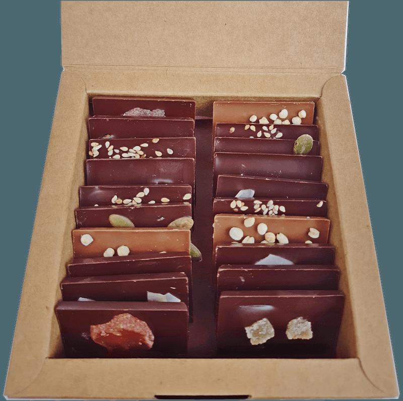 mini tablettes de chocolat