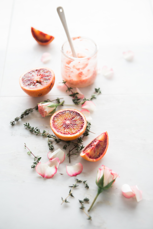 baume à lèvres à l'orange