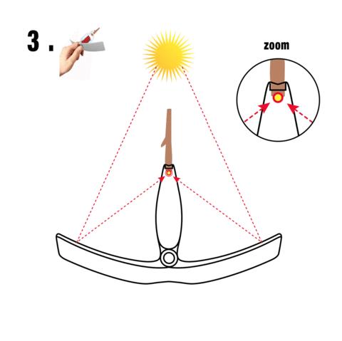 Etape 3 briquet solaire
