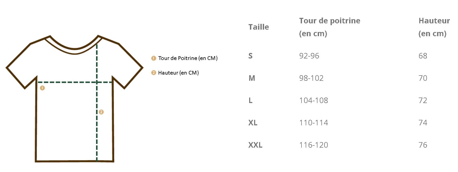 Guide des Tailles Léo