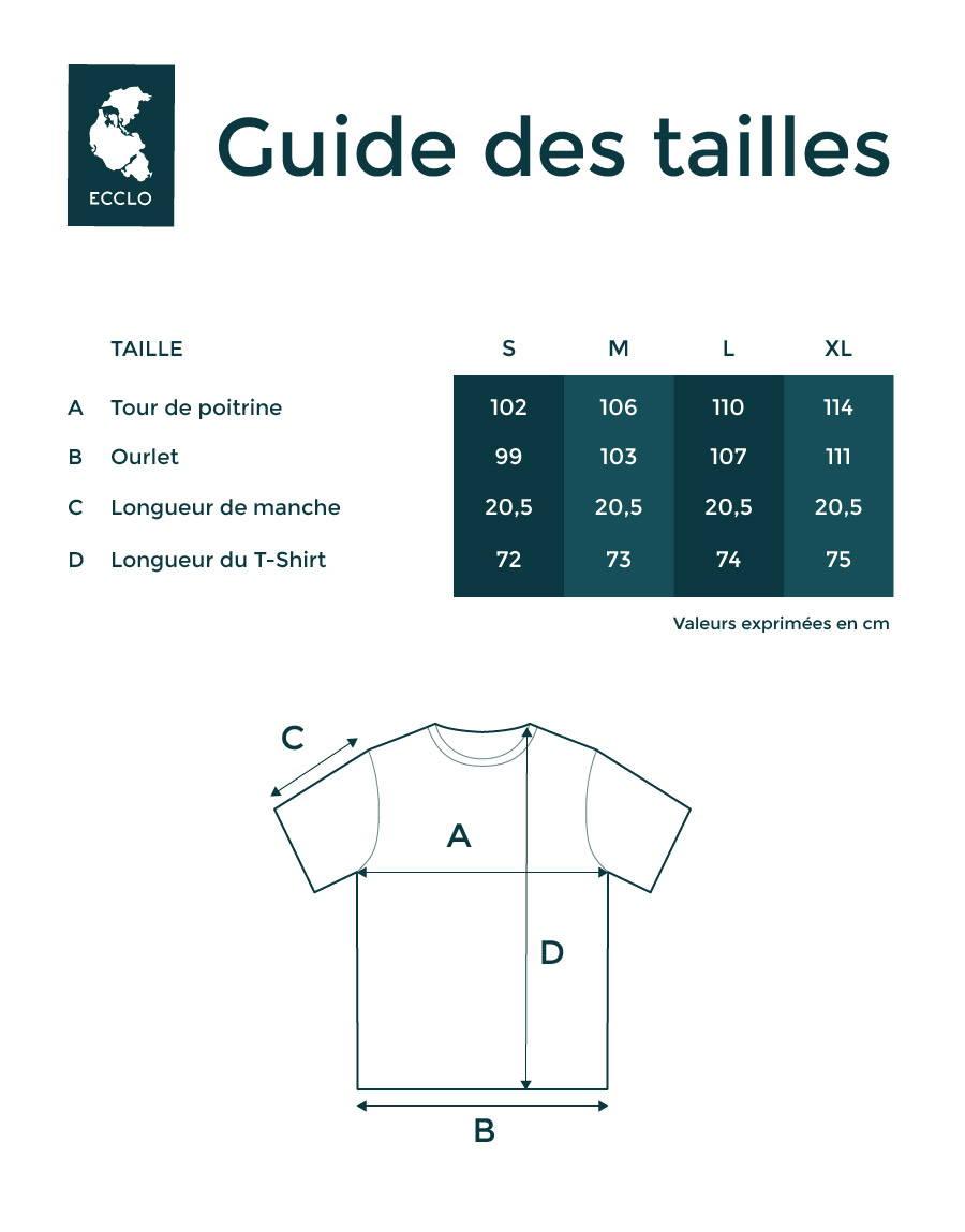 guide des tailles T-shirts