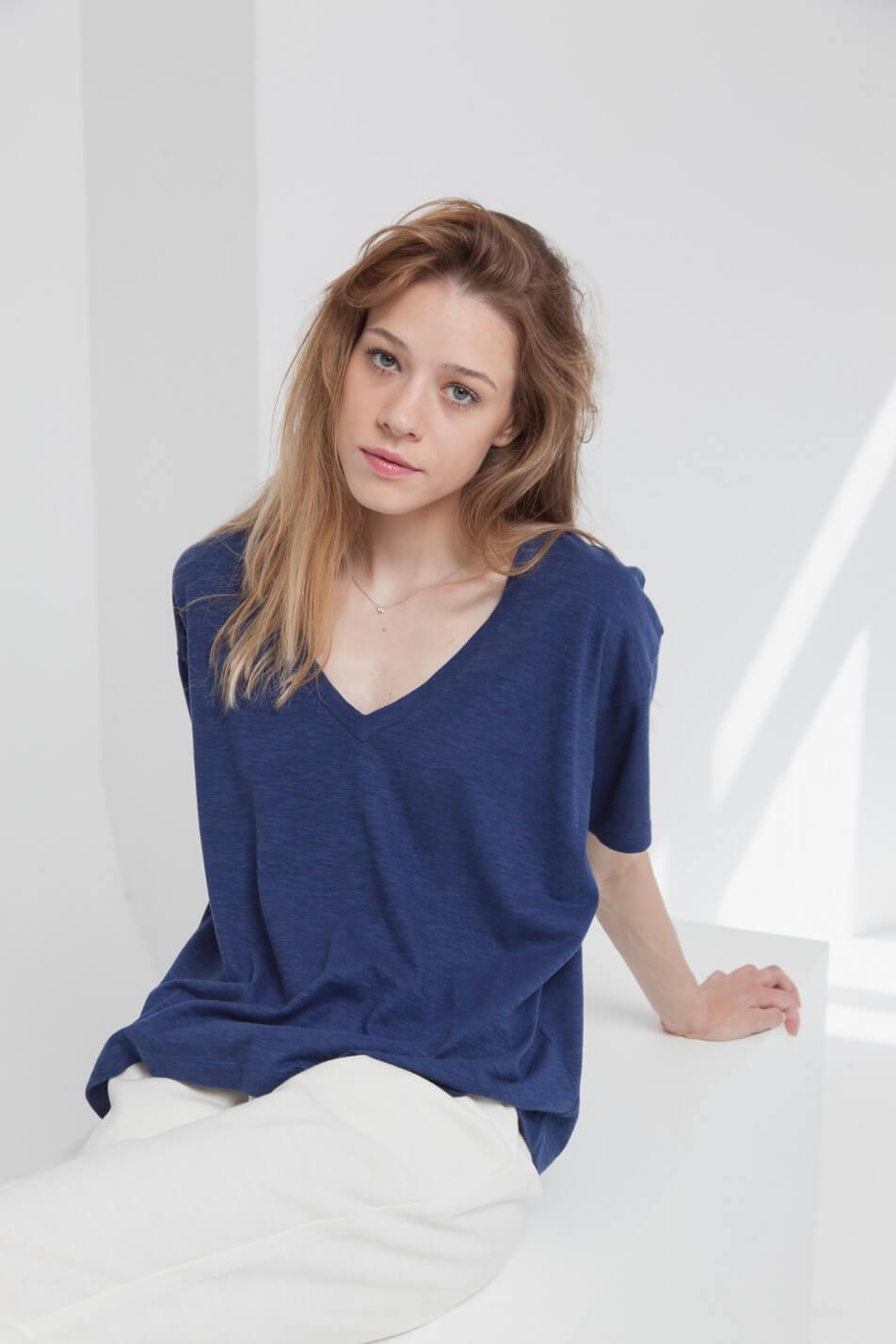 Tee-shirt en chanvre et coton bio pour femme