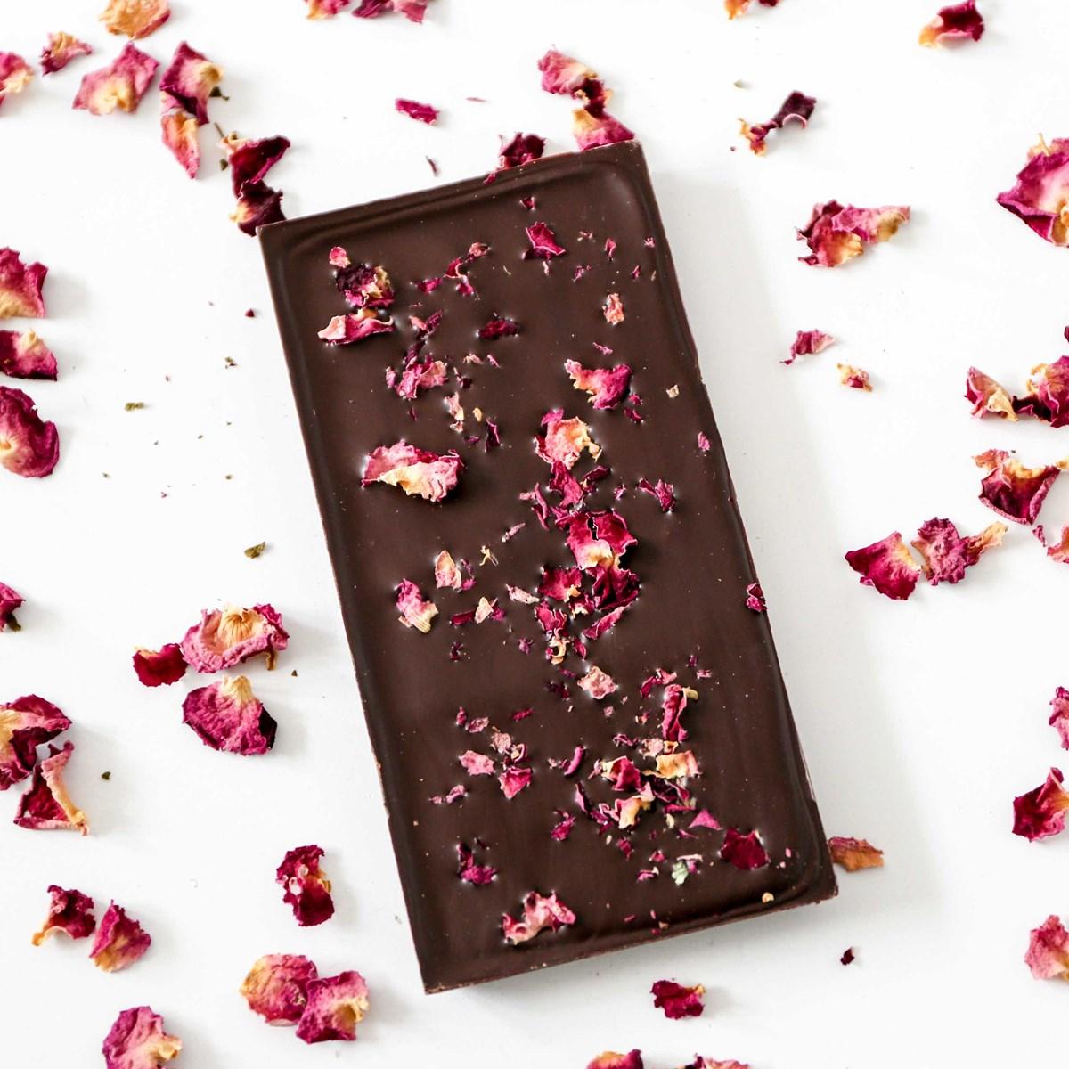 tablette de chocolat bio aux fleurs