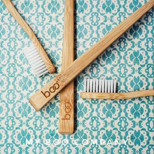Brosse à dents en bambou de la marque Boo