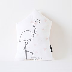 Coussin Flamant rose mélodie Get Lucky des Daft Punk