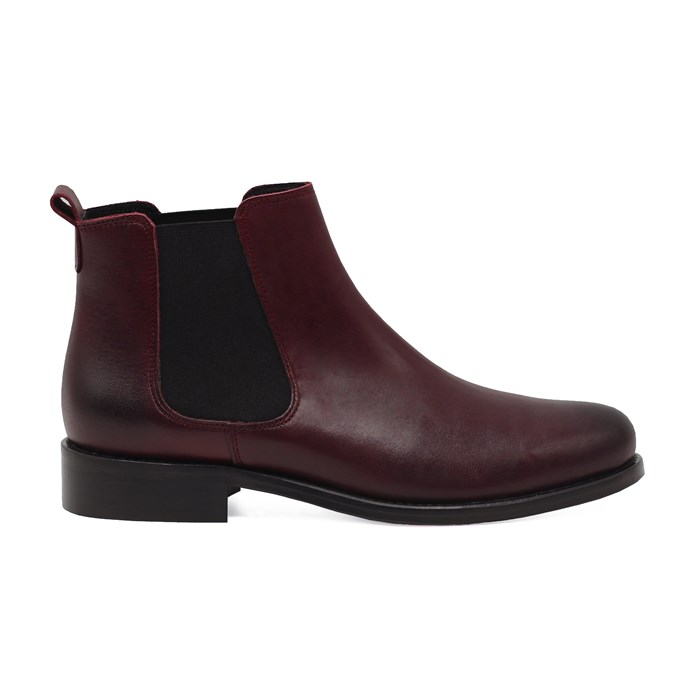 Bottines Chelsea cuir bordeaux 5