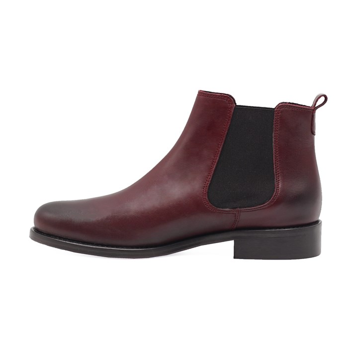 Bottines Chelsea cuir bordeaux 6