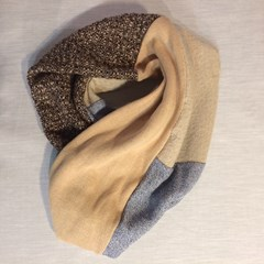 SNOOD CACHE COL MULTI-LAINE
