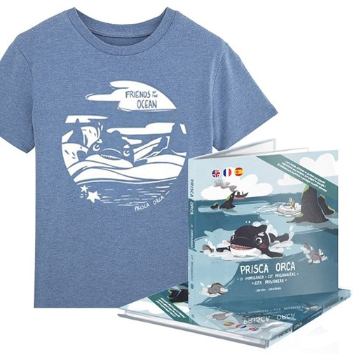 "Pack T-shirt + Livre ""Friends of the Ocean"" - Série Limitée - Jarvin Crew by Fabrica de Bigote"