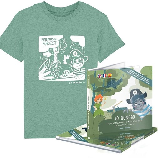"Pack T-shirt + Livre ""Friends of the Forest"" - Série Limitée - Jarvin Crew by Fabrica de Bigote"