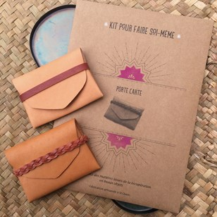 Kit DIY - Porte carte tresse