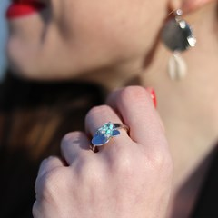 BAGUE TURQUOISE TORTUGA