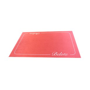 Tapis De Belote Excellence 40 X 60 Bordeau-Fabriqué en France