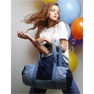 Charlot le grand sac polochon en denim - Spring Summer