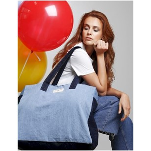 Elzevir le grand sac week-end en denim - Spring Summer