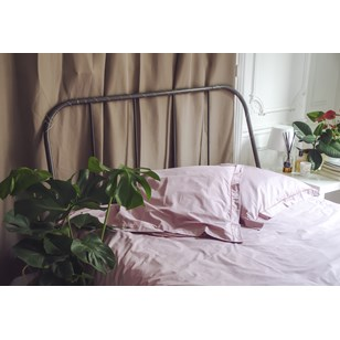 Housse de couette Louise - Percale de coton - Rose Blush
