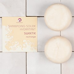 SWEETIE - shampoing solide format voyage - hydratant - 25G - recharge par 2 BOITE CARTON
