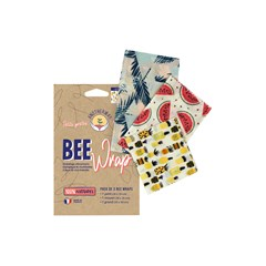 Pack de Bee Wrap |  3 Emballages Alimentaires Réutilisables made in France - Original