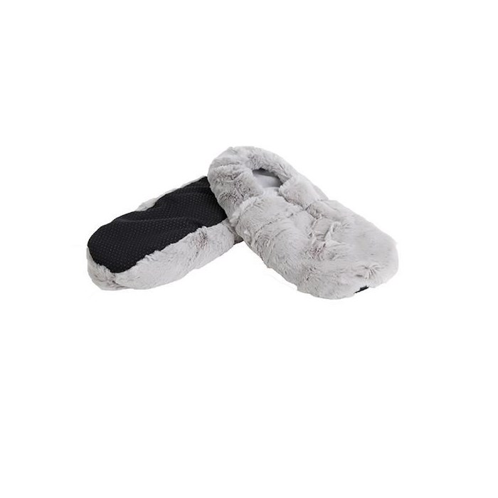 Chaussons bouillotte gris made in France