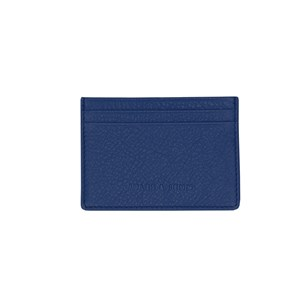 Porte-cartes en cuir bleu royal