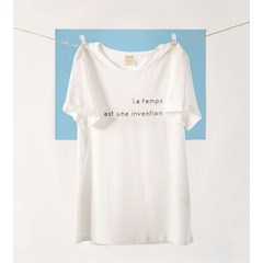 T-shirt Le temps eco white