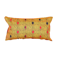 Coussin rectangle en wax Akissi