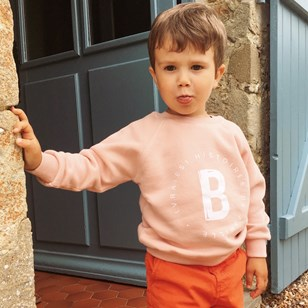 Sweat Enfant Rose nude Coton Bio GOTS
