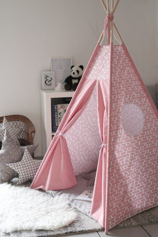 tipi-pour-enfant-zero-dechet-coton-naturel-made-in-france-enfant-mini-triangles-corail