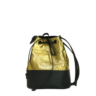 Sac seau Kinley en Pinatex et Apple Skin - Or