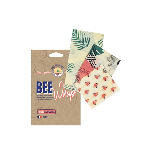 Pack de Bee Wraps   3 Emballages Alimentaires Réutilisables made in France - Tropical