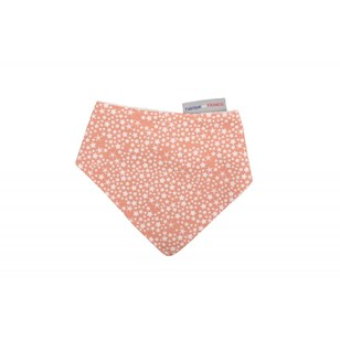 Bavoir bandana - Constellation Corail