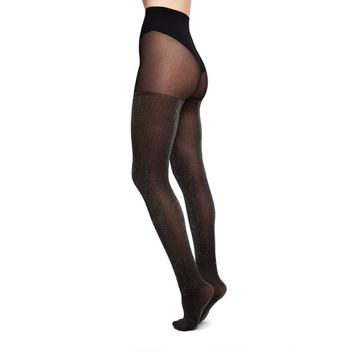 Collant - Lisa Lurex Noir & Argent