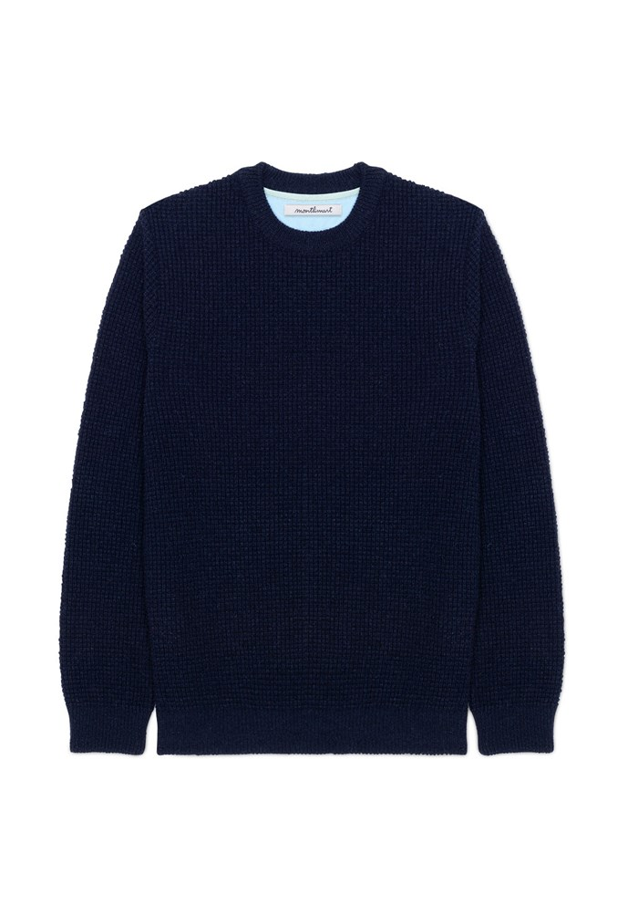 Pull ORIGINE - Fibres recyclées - Made in France - Marine 3