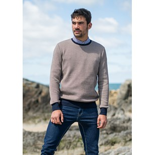 Pull VILLEGIATURE - Made in France - Coton Bio GOTS - Marine