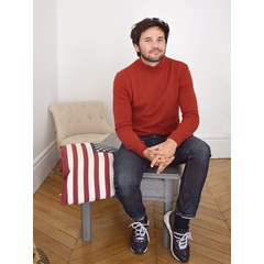 Pull laine recyclée - Made in France - Nikita - Rouge - homme