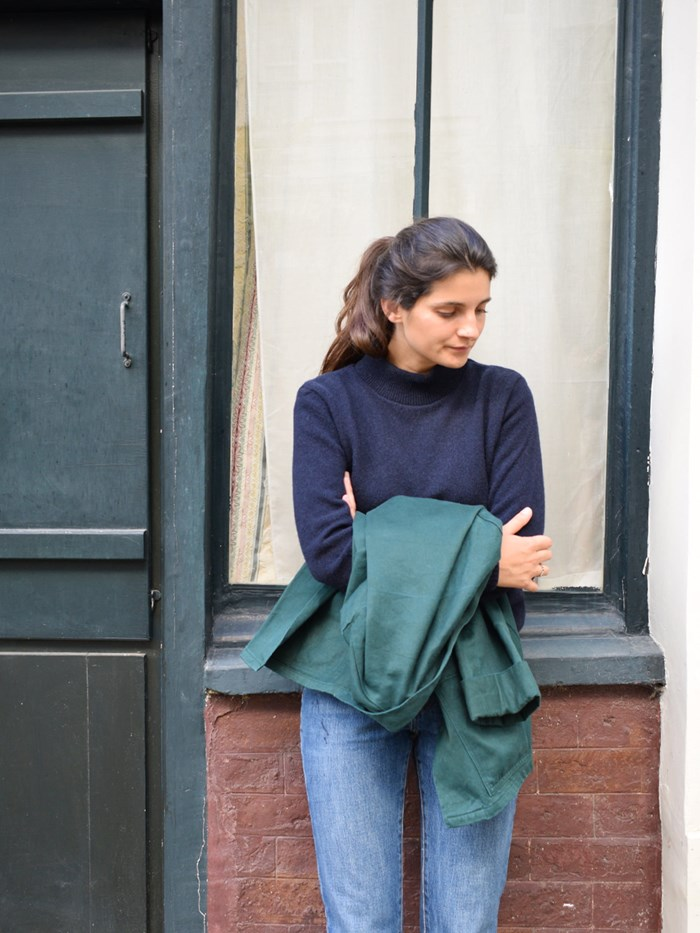 Pull laine recyclée - Made in France - Nikita - Marine - femme  3