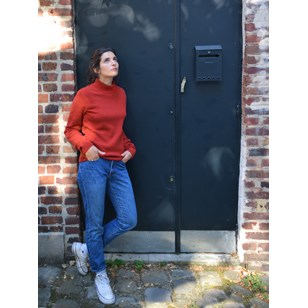 Pull laine recyclée - Made in France - Nikita - Rouge - femme