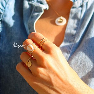 BAGUE CAURI NAXOS PLAQUEE OR