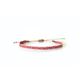 Bracelet large tissé à la main - Le Grand Rouge