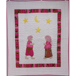 Boutis couvre-lit cambodgiens Mekong Quilts