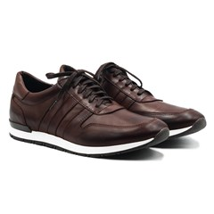 Sneakers cuir marron