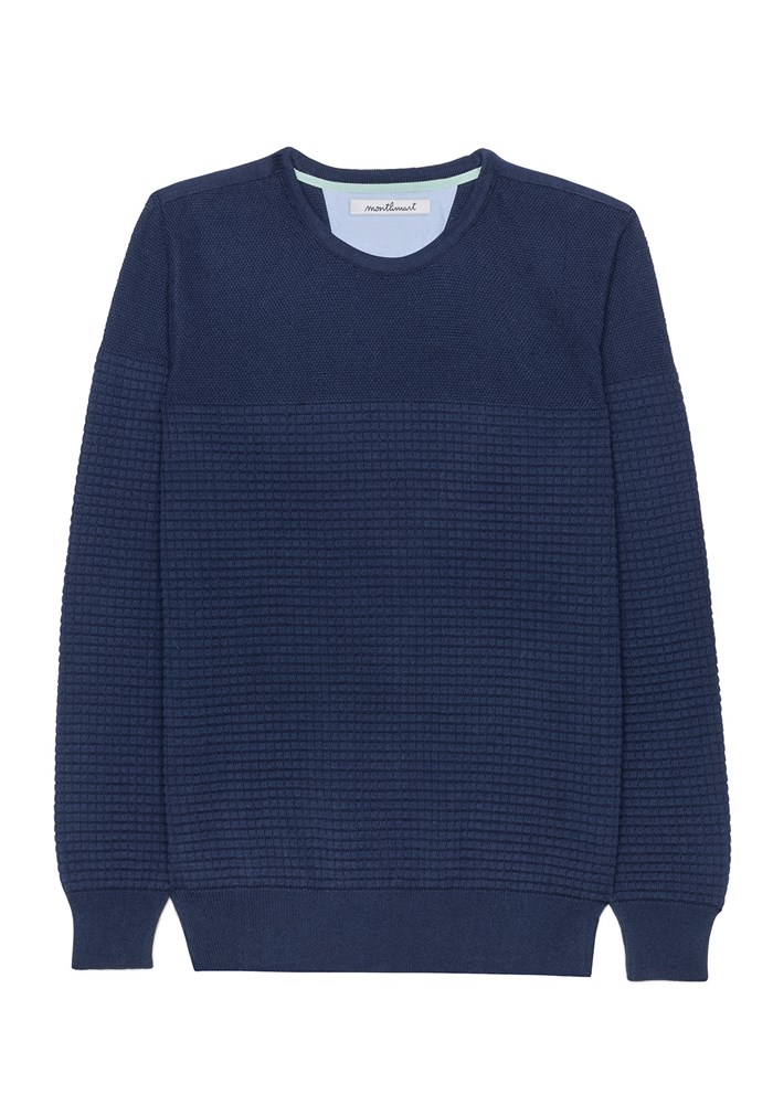 Pull FLANEUR - Made in France - Coton Bio GOTS - Marine 4