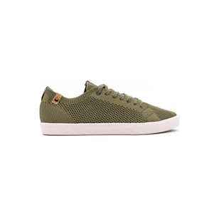 Saola chaussures éco responsables Cannon Knit Burnt Olive - Homme