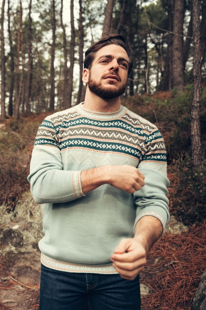 Pull Inca - Menthe - Homme 2
