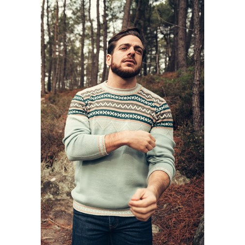 Pull Inca - Menthe - Homme