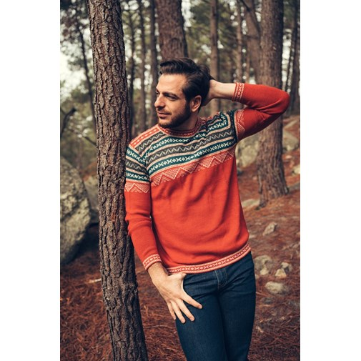 Pull Inca - Rouge - Homme