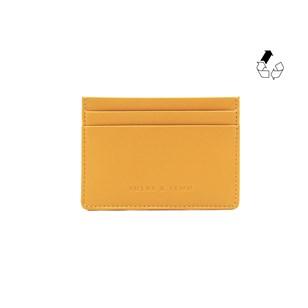 Porte-cartes cuir upcyclé moutarde