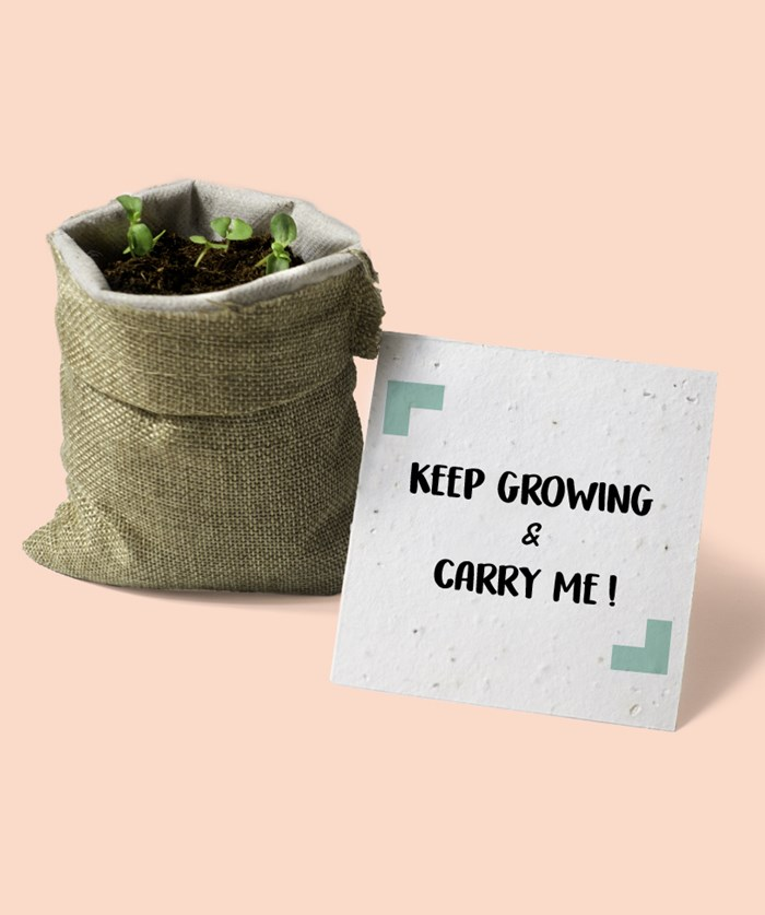 L'épicier - Keep growing & Carry me en toile de jute 🌺 2