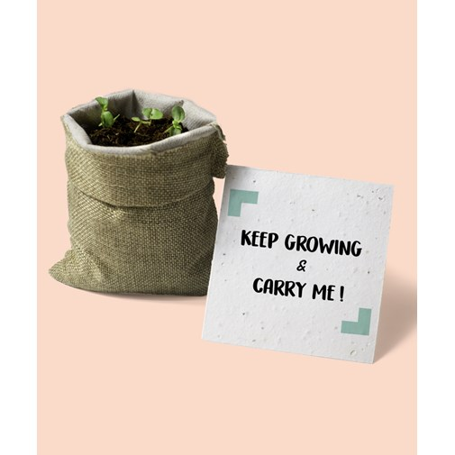 L'épicier - Keep growing & Carry me en toile de jute 🌺